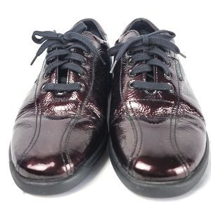 Mephisto Patent Leather Lace Up Sneakers Size 6